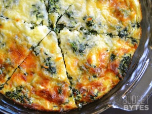 Crustless Quiche recipe and photo by budgetbytes.com